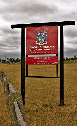Macquariedale Wines on Sweetwater rd, Rothbury