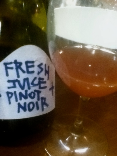 Stoney Rise 'Fresh Juice' Pinot Noir (not for sale).