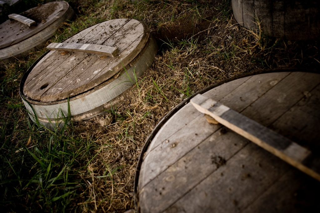 Millton Vineyards Biodynamic Prep Storage Barrels - photo courtesy of Millton Vineyards