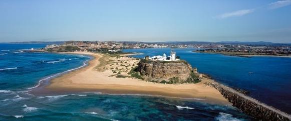 Newcastle's Nobby's Beach - Photo, courtesy Newcastle Convention Bureau