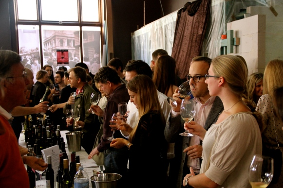 A 'real' wine frenzy... photo by The Wine Idealist