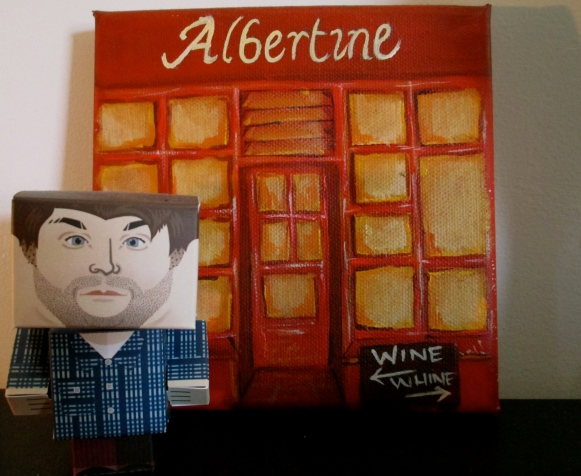 The Wine Idealist out the front of the Albertine