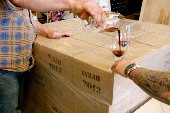 Tasting the Latest Release... Bobar Syrah 2013 - photo by The Wine Idealist