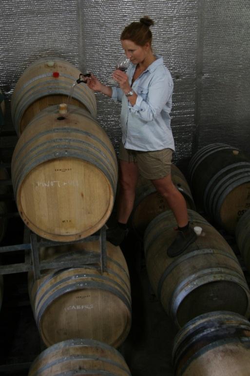 Jo Perry - photo courtesy of Dormilona Wines