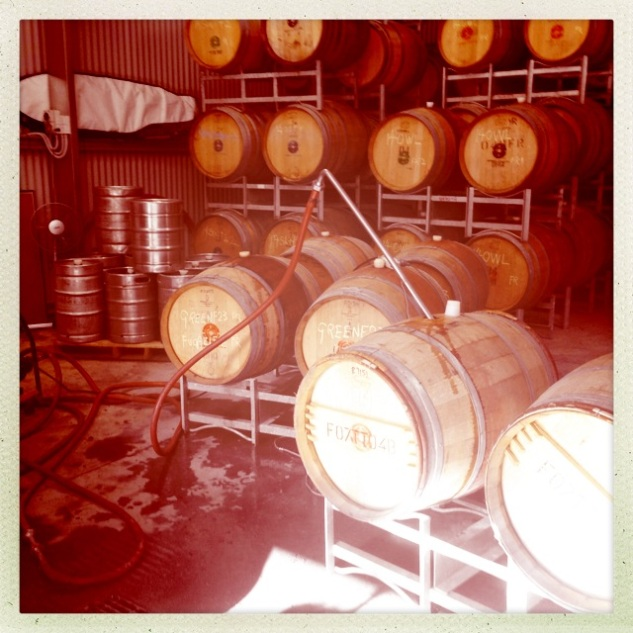 Green Room Barrels - photo courtesy of Ochota Barrels