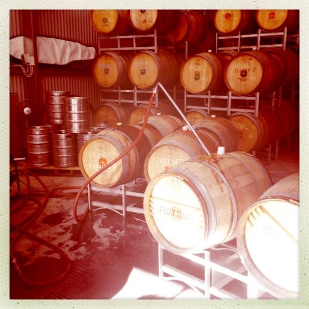 Green Room Barrels - photo courtesy of Ochota Barrels