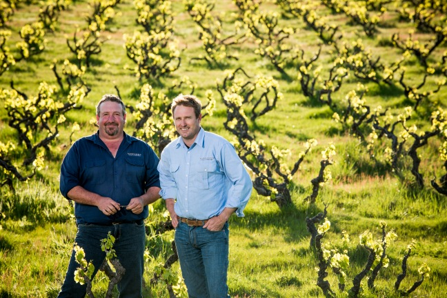 Michael Lane and Peter Fraser - photo courtesy of Yangarra Estate