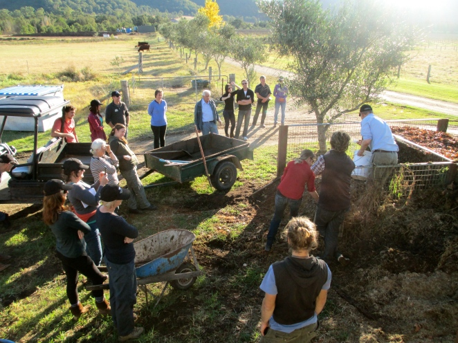 Biodynamic Composting at Krinklewood - photo by The Wine Idealist