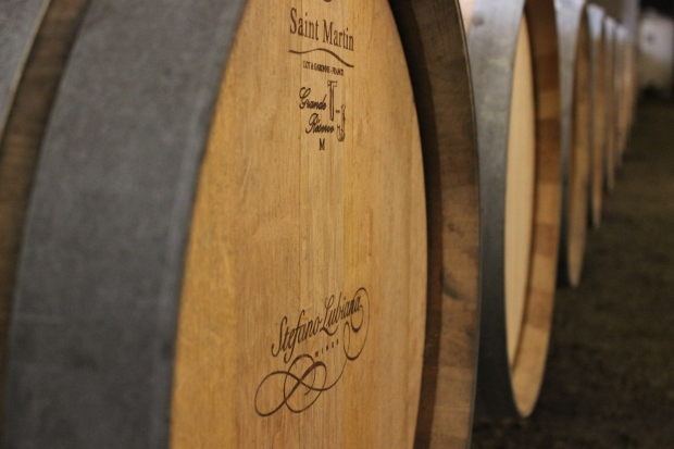 Stefano Lubiana barrels - photo courtesy of Stefano Lubiana