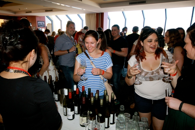 All Smiles at What's In Your Glass? 2014 - photo by The WIne Idealist
