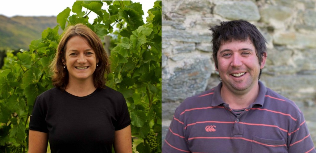 Nadine Cross and Nick Paulin - photo courtesy of Peregrin Wines