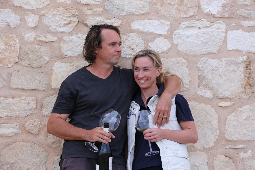 Derek and Anna Hooper - photo courtesy of Cape Jaffa Wines