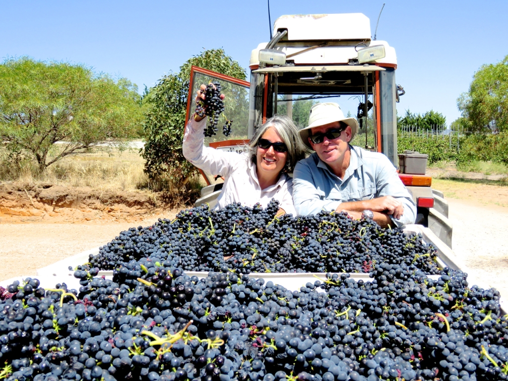 Dr Irina Santiago-Brown and her husband Dudley Brown - photo courtesy of Inkwell Wines