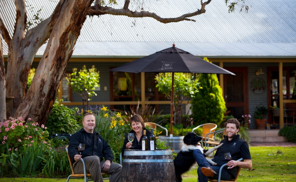 Matt, Mel, Cooper and Josh  - photo courtesy of Whistler Wines