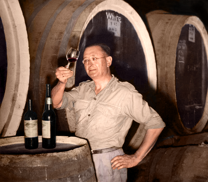 The Wine Hunter, Maurice O'Shea - photo courtesy of McWilliam's
